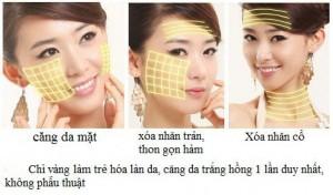 Công dụng của căng da mặt bằng chỉ vàng 24k – Gold Thread V-Lift?